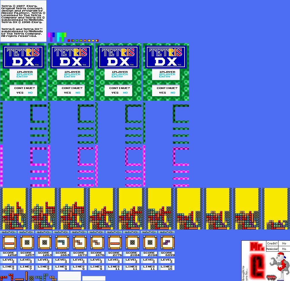 Game Boy / GBC - Game Boy Color Promotional Demo - Tetris DX