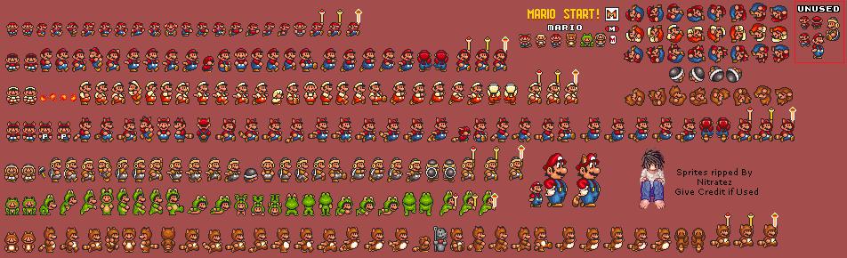 SNES - Super Mario All-Stars: Super Mario Bros  3 - Mario