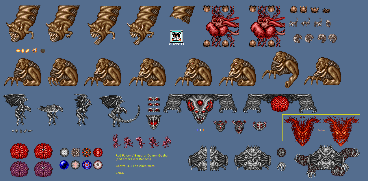 The Spriters Resource Full Sheet View Contra 3 The Alien Wars