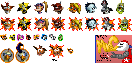 GameCube - Crash Tag Team Racing - Character Icons - The Spriters