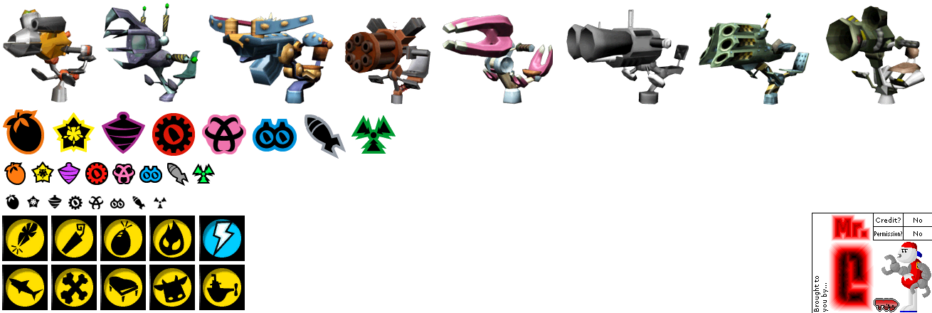 GameCube - Crash Tag Team Racing - Weapons Icons - The