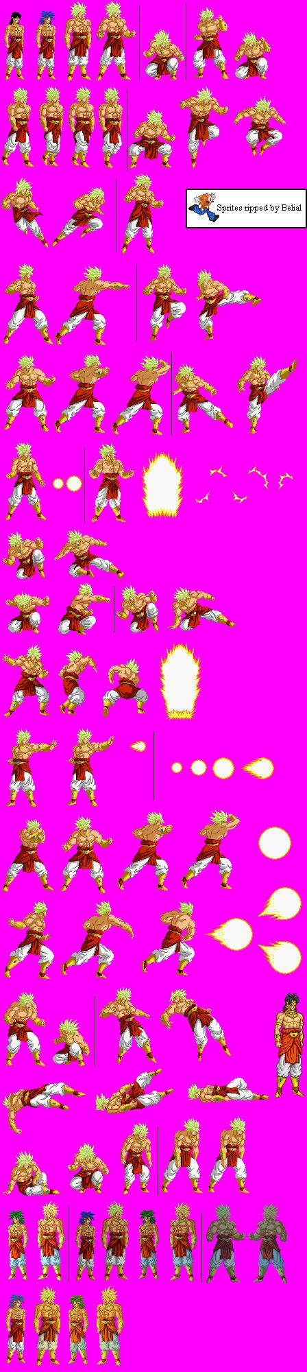 Snes Dragon Ball Z Super Butouden 2 Jpn Broly The Spriters