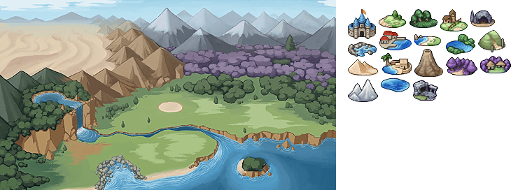 Mobile adventure bar story world map the spriters resource world map gumiabroncs Gallery
