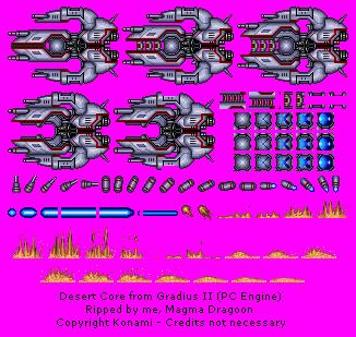 TurboGrafx-16 - Gradius II - Desert Core - The Spriters Resource