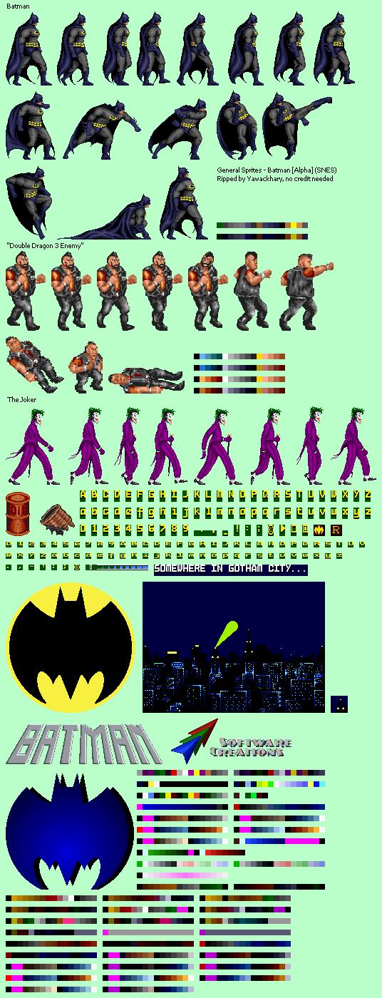 SNES - Batman (Prototype) - General Sprites - The Spriters