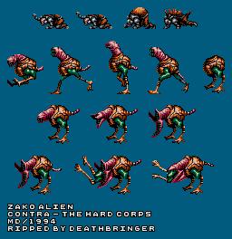 Genesis 32x Scd Contra Hard Corps Zako Alien The Spriters