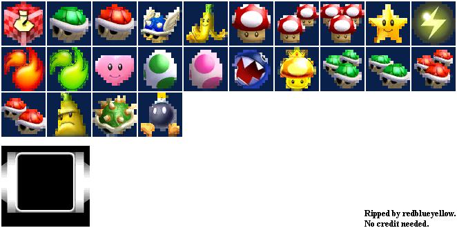 Gamecube Mario Kart Double Dash Items The Spriters