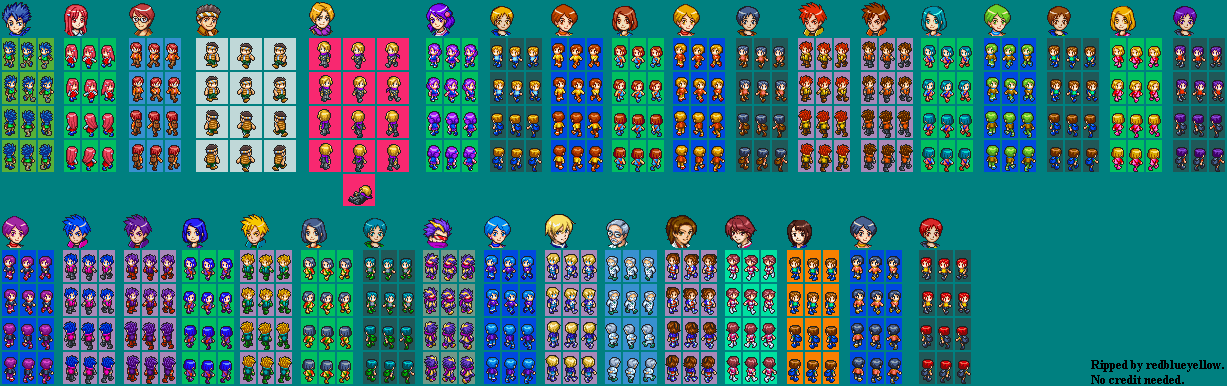DS / DSi - Digimon World DS - NPC Characters - The Spriters