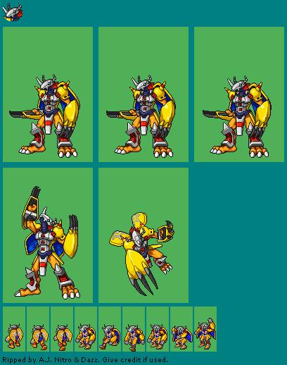 DS / DSi - Digimon World DS - WarGreymon - The Spriters Resource