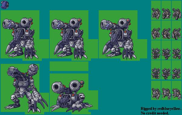 DS / DSi - Digimon World DS - Machinedramon - The Spriters