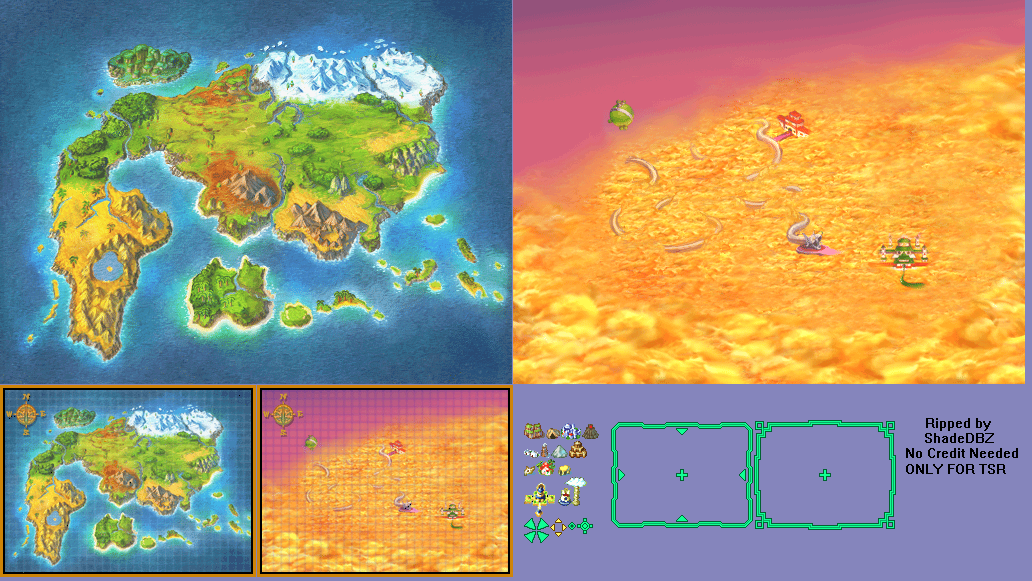 Ds dsi dragon ball z attack of the saiyans world map the click for full sized image world map gumiabroncs Choice Image