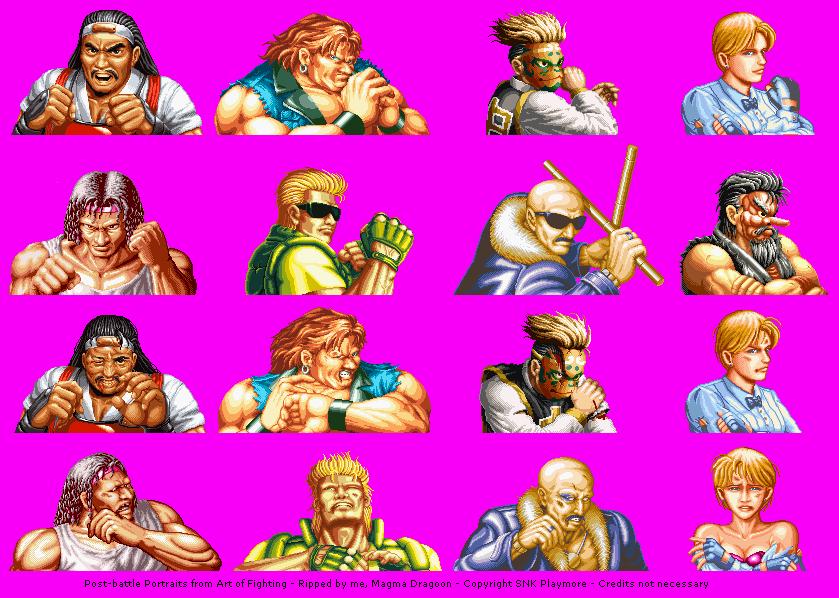 Neo Geo Ngcd Art Of Fighting Post Battle Portraits The Spriters Resource