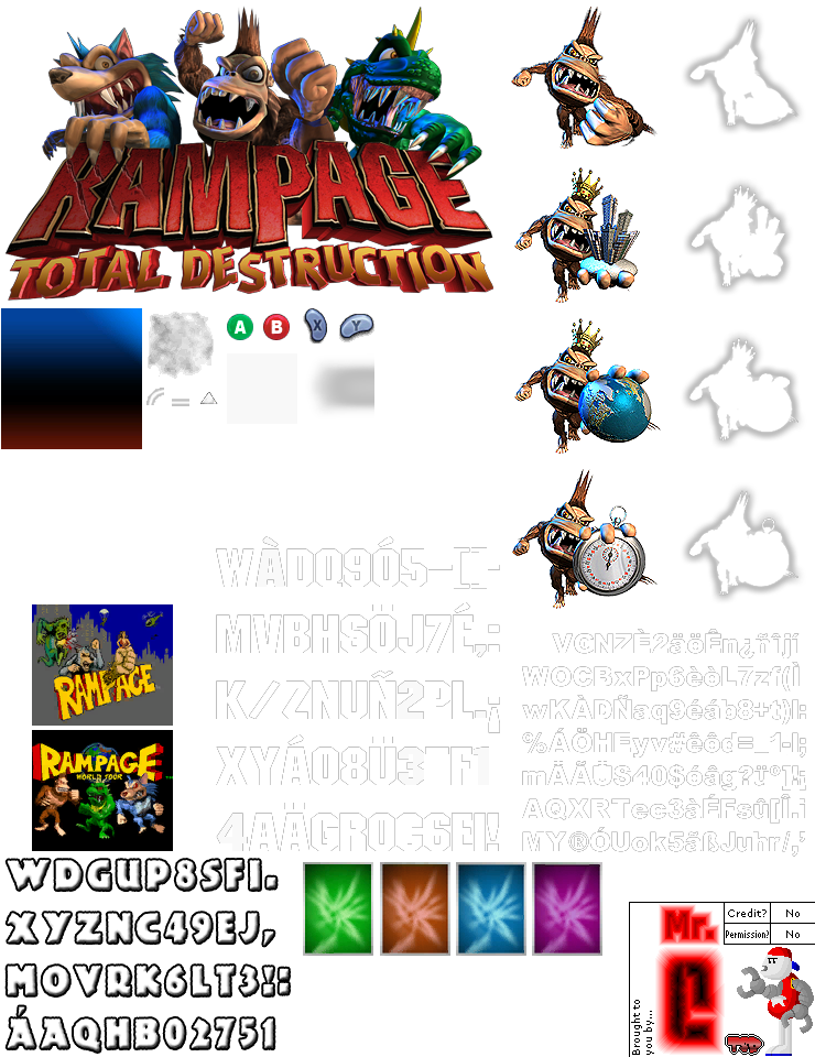 Gamecube Rampage Total Destruction Title Screen The