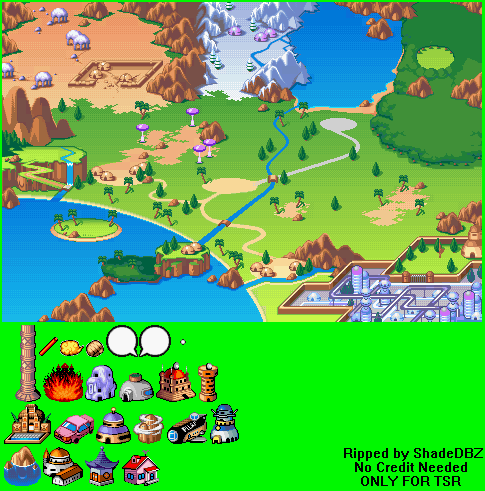 Game boy advance dragon ball advanced adventure world map the world map gumiabroncs Choice Image