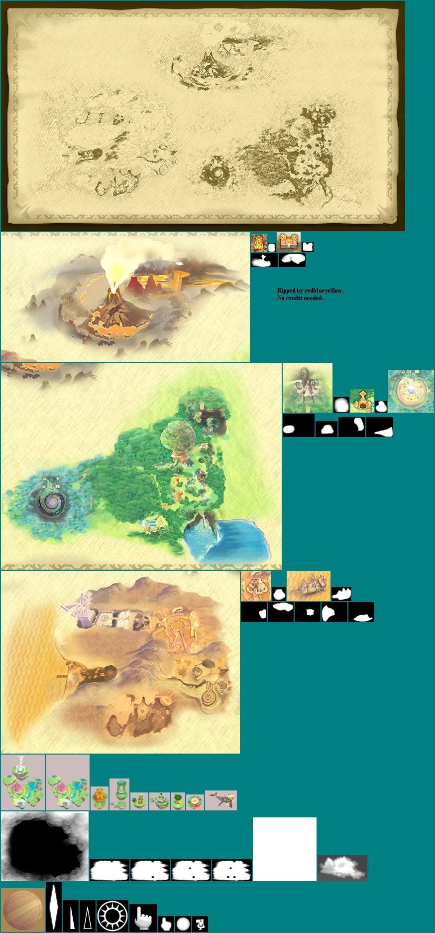 skyward sword world map Wii The Legend Of Zelda Skyward Sword World Map The