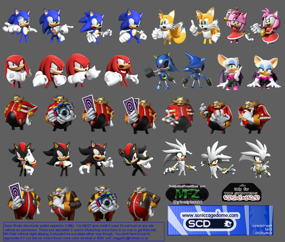 Psp Sonic Rivals Story Prerenders The Spriters Resource