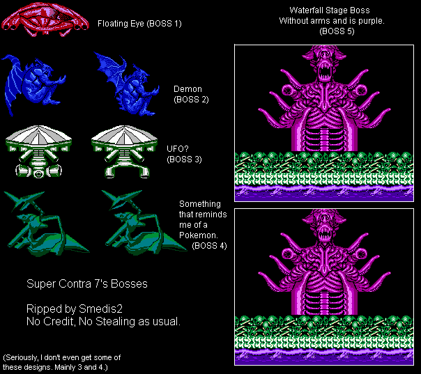The Spriters Resource Full Sheet View Super Contra 7 Bootleg