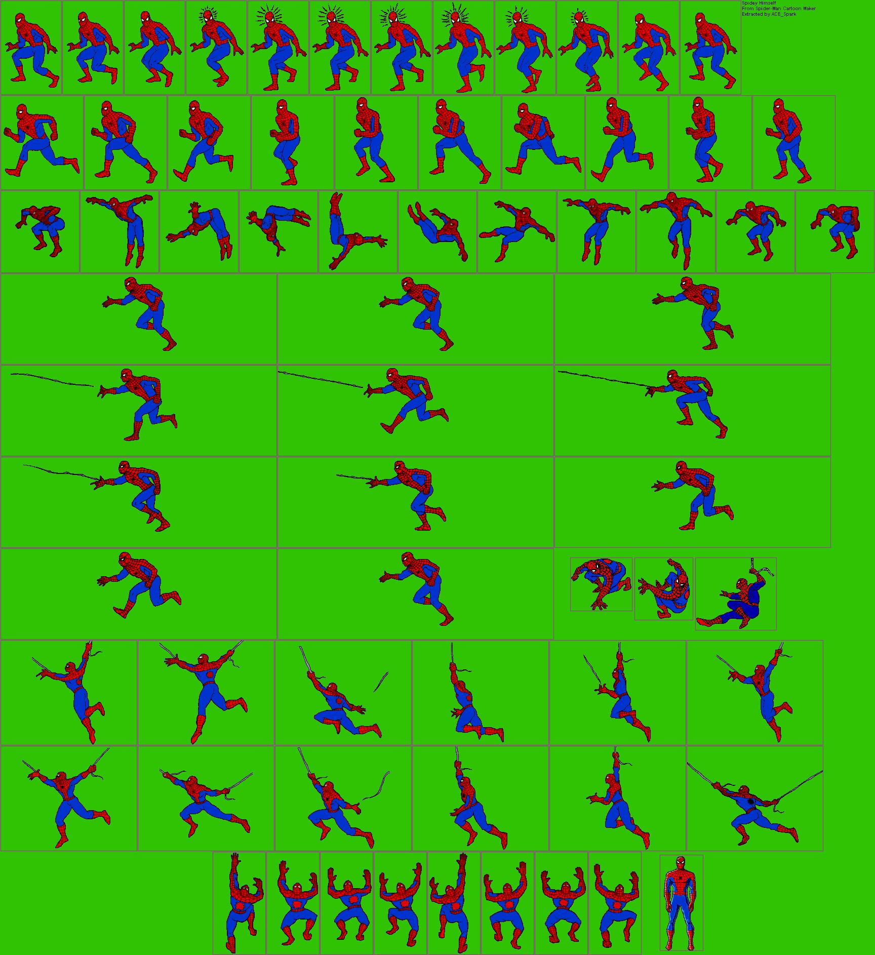 Pc Computer Spider Man Cartoon Maker Spider Man The Spriters