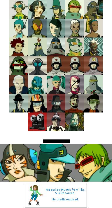 Xbox - Jet Set Radio Future - Character Icons - The Spriters