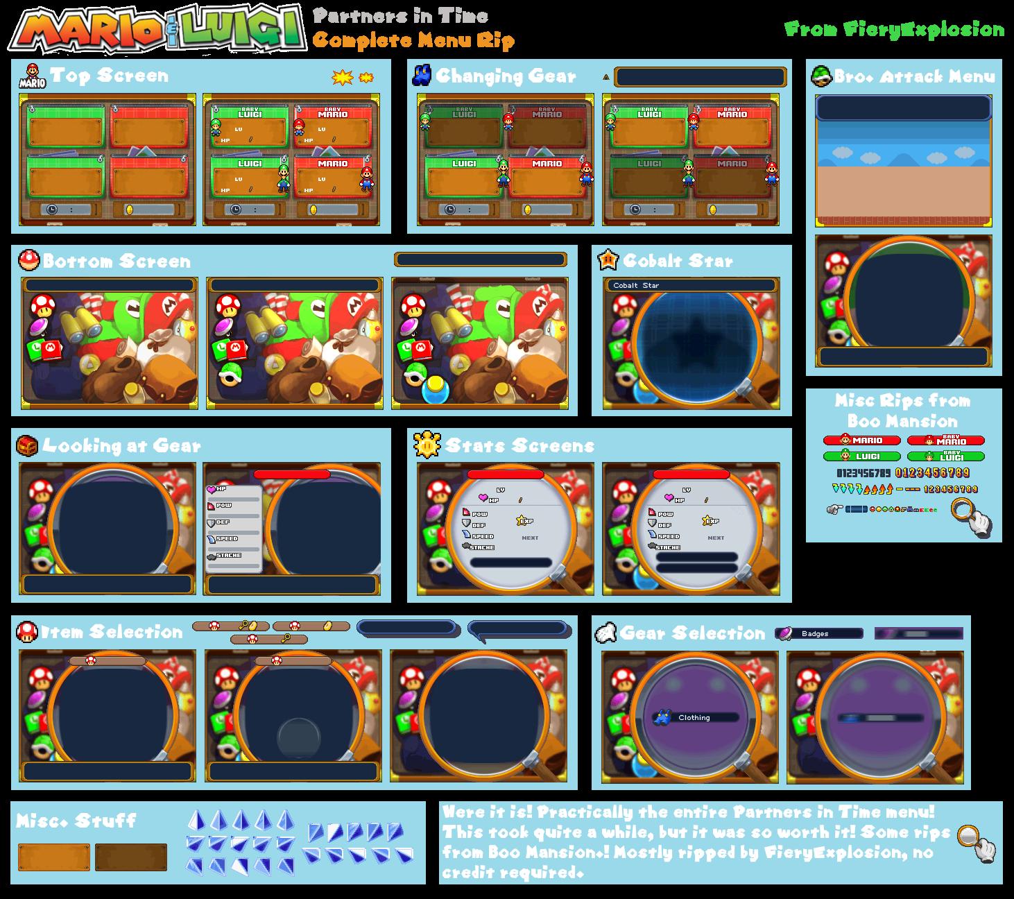 DS / DSi - Mario & Luigi: Partners in Time - Main Menu - The