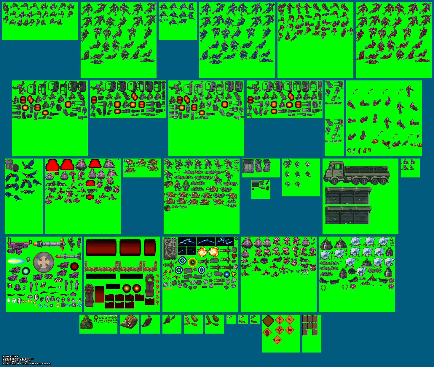 The Spriters Resource Full Sheet View Contra Rebirth Enemies