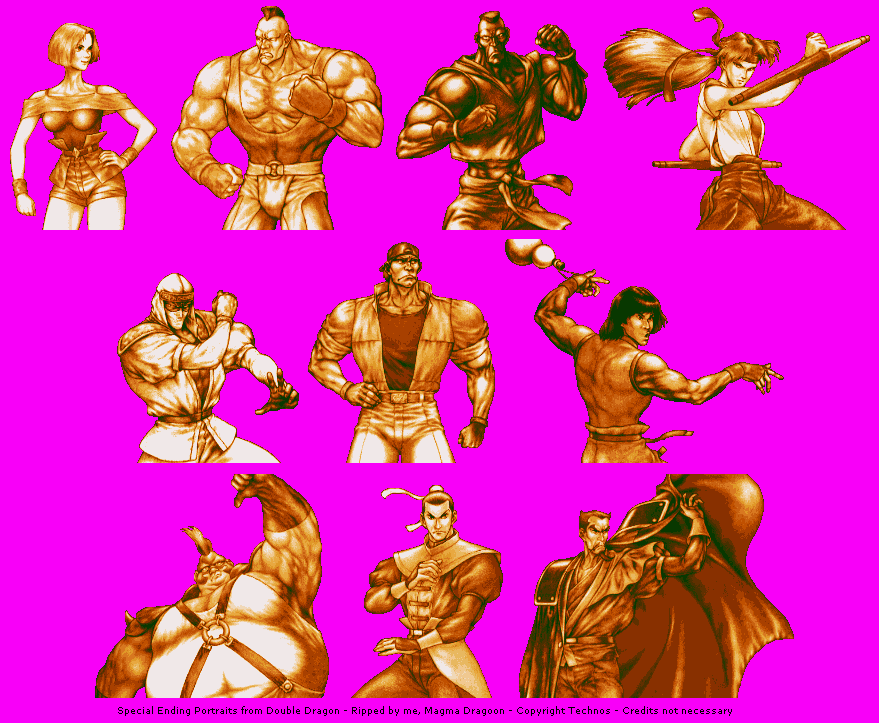 Neo Geo Ngcd Double Dragon Special Ending Portraits The Spriters Resource