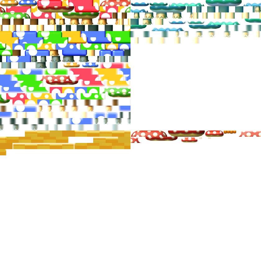 3DS - New Super Mario Bros  2 - Mushrooms - The Spriters