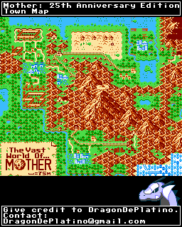 NES - Mother: 25th Anniversary Edition (Hack) - Town Map - The