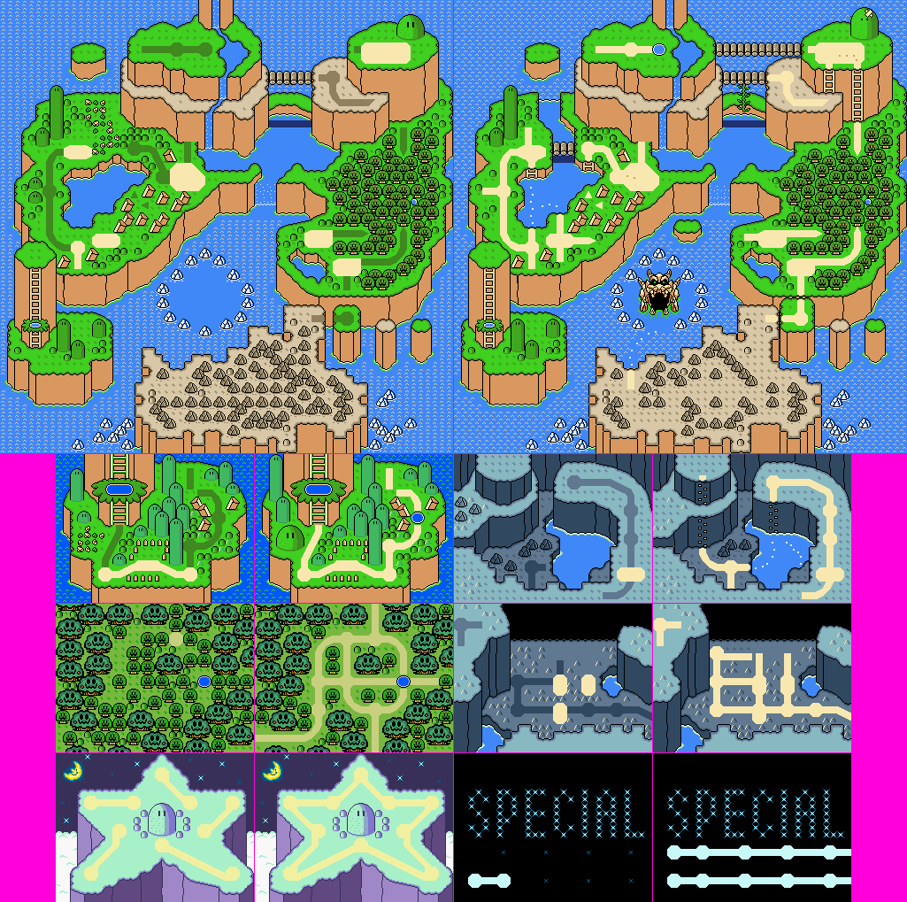 Snes super mario world world map wo sprite the spriters click for full sized image world map wo sprite gumiabroncs Image collections