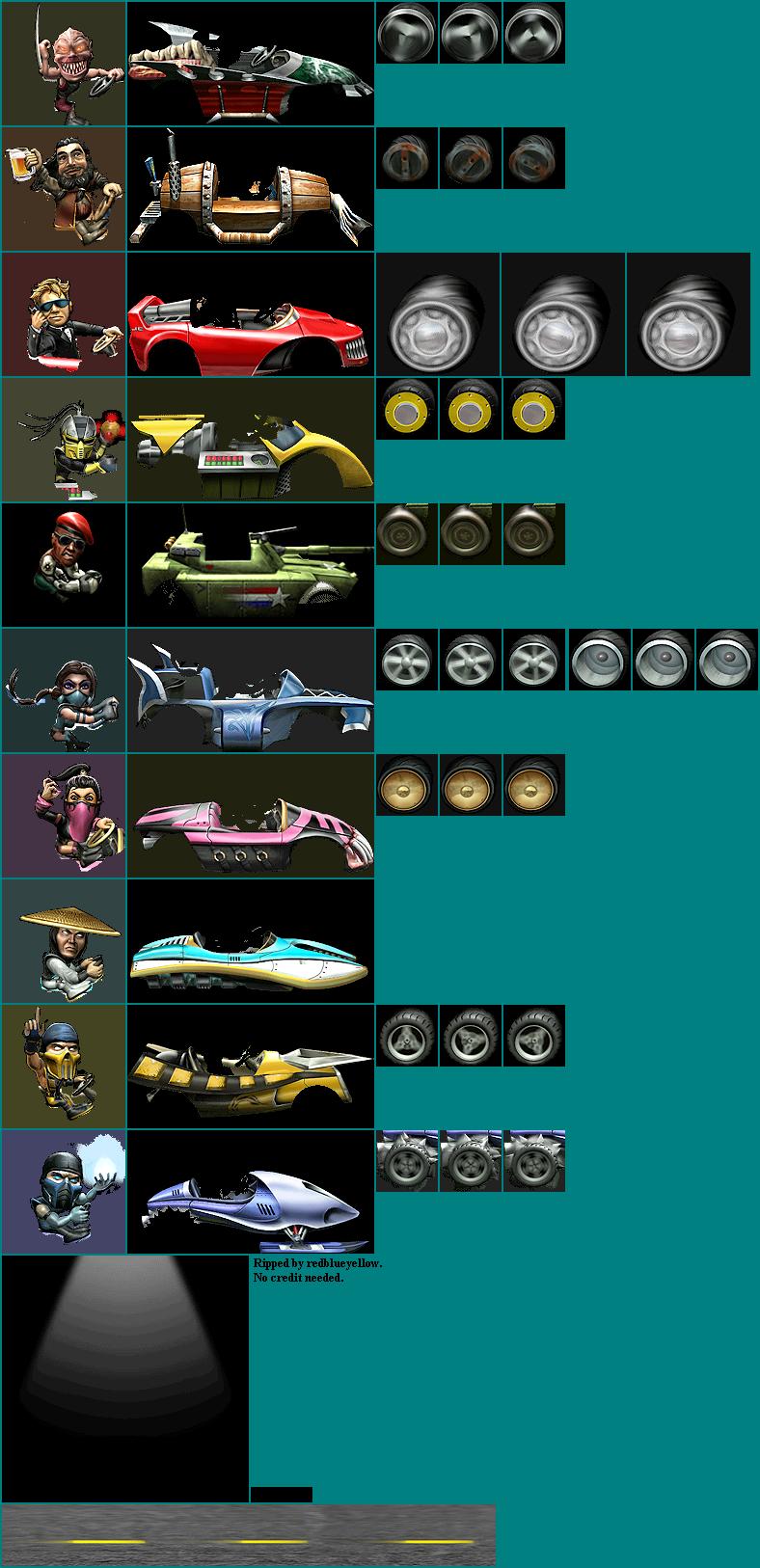 Wii - Mortal Kombat: Armageddon - Character Select - The Spriters