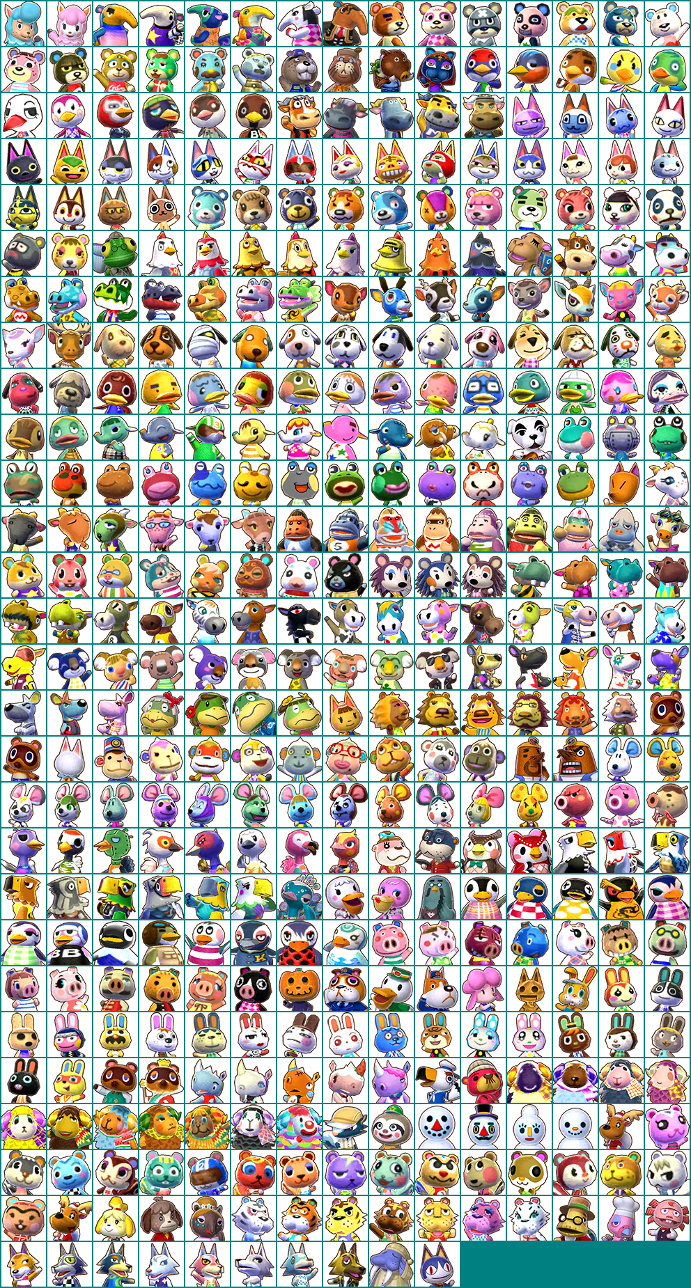 3ds Animal Crossing Happy Home Designer Npc Icons The