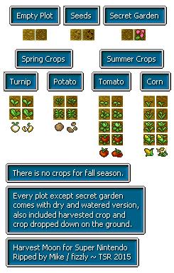 SNES - Harvest Moon - Crops - The Spriters Resource