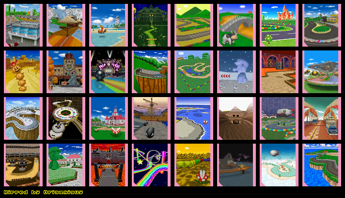 Ds Dsi Mario Kart Ds Course Selection The Spriters