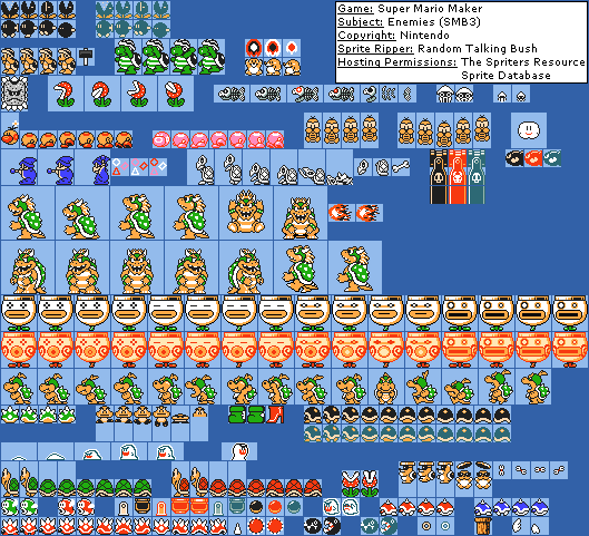 enemy super mario bros 3 sprites