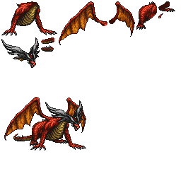 The Spriters Resource Full Sheet View Final Fantasy Record Keeper Ruby Dragon