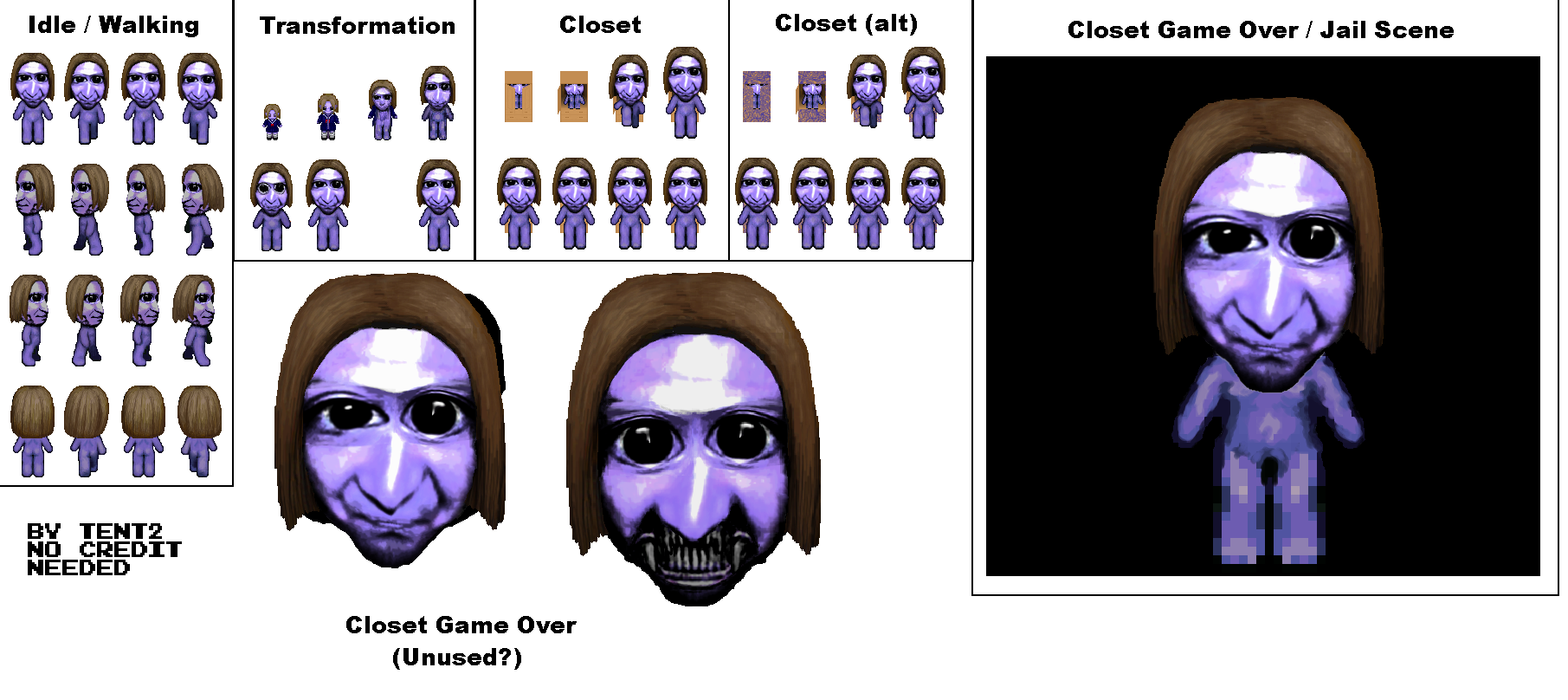 The Spriters Resource Full Sheet View Ao Oni Mika Oni