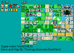 Nes super mario world bootleg items map the spriters return to game gumiabroncs Images