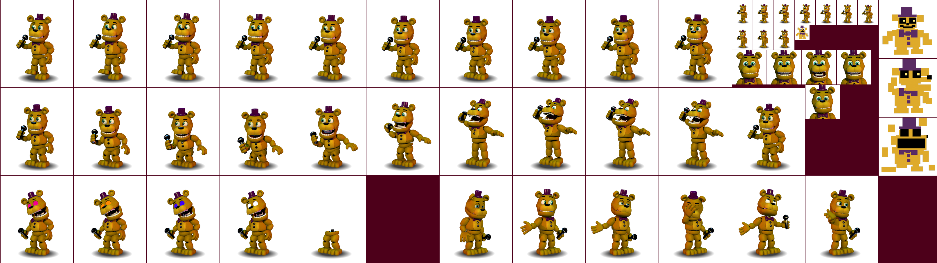 PC / Computer - FNaF World - Fredbear - The Spriters Resource