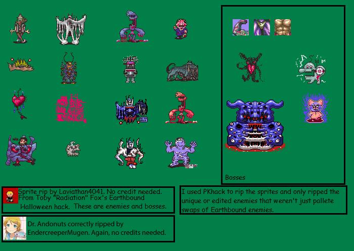 SNES - Earthbound Halloween Hack (Hack) - Enemies & Bosses - The ...
