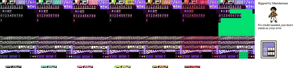 SNES - EarthBound / Mother 2 - Battle HUD - The Spriters