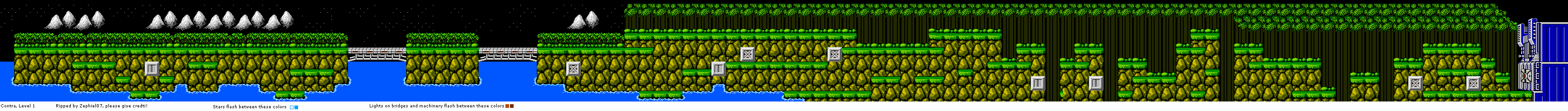 NES - Contra - Level 1 - The Spriters Resource