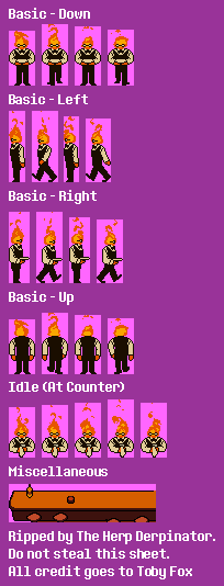 Pc Computer Undertale Grillby The Spriters Resource