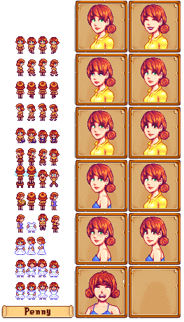 PC / Computer - Stardew Valley - Penny - The Spriters Resource