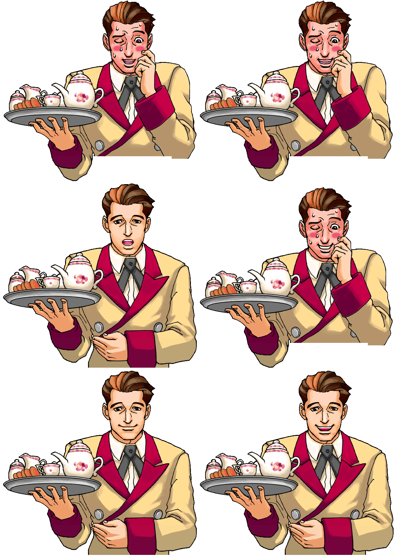 The Spriters Resource Full Sheet View Phoenix Wright Ace