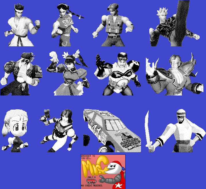 Game com - Fighters Megamix - Character Portraits - The