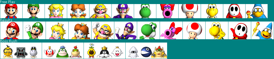 Wii Mario Party 9 Character Icons The Spriters Resource