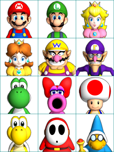 Wii Mario Party 9 Character Portraits The Spriters Resource