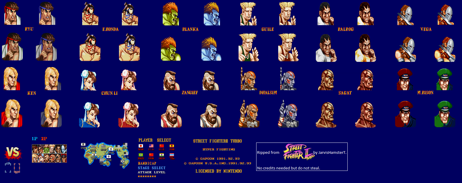 The Spriters Resource Full Sheet View Street Fighter 2
