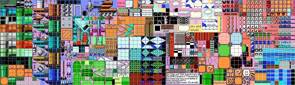 Nes Super Mario Bros 3 Stage Tiles