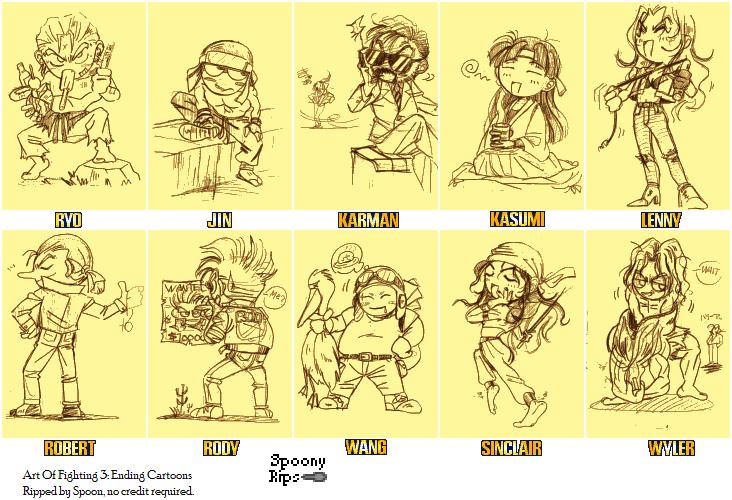 Neo Geo Ngcd Art Of Fighting 3 Ending Cartoons The Spriters Resource